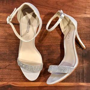 Aldo Silver Strap Sandal - Size 7